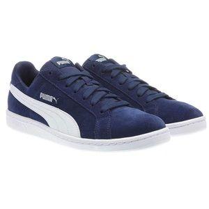 Men's Puma Suede Leather Smash Sneaker Shoes Navy